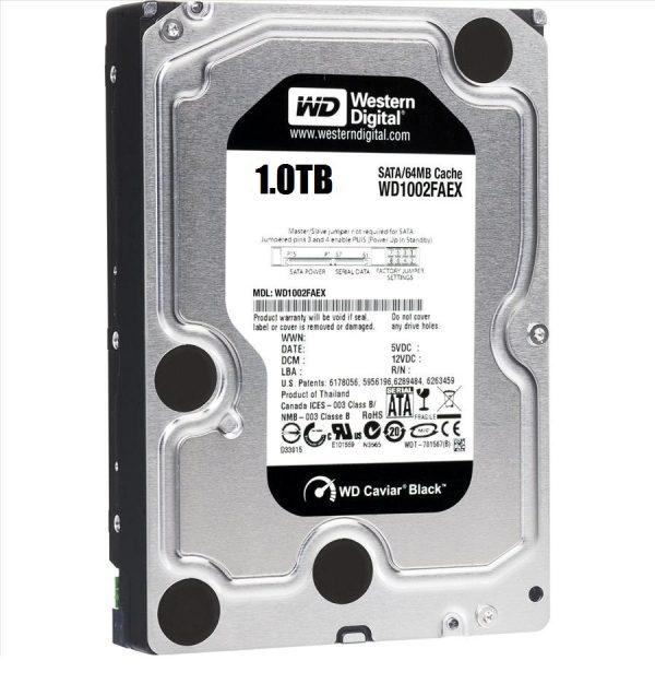 Ổ Cứng WD HDD Black 1TB 3.5″ SATA 3/ 64MB Cache/ 7200RPM (Màu đen) WD1003FZEX