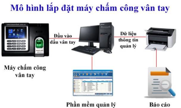 Quy trình lắp máy chấm công vân tay tại Đà Nẵng